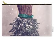 Christmas Mannequin Dressed In Fir Branches Carry-all Pouch