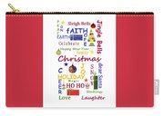 Christmas Message  -  Typography Carry-all Pouch