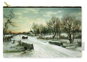 Christmas Morn Textured Carry-all Pouch