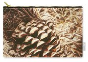 Christmas Pinecone On Barn Floor Carry-all Pouch