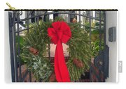 Christmas Ribbon On Iron Door Carry-all Pouch
