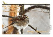 Christmas Sparrow - Christmas Card Carry-all Pouch