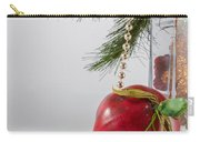 Christmas Tree Branch And Decoration In A Vase Carry-all Pouch