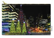 Christmas Tree On New Year's Eve In The Street Of A Big City Carry-all Pouch