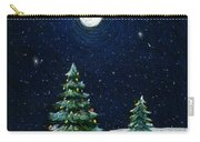 Christmas Trees In The Moonlight Carry-all Pouch