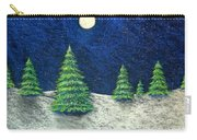 Christmas Trees In The Snow Carry-all Pouch