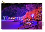 Christmas Trees Row And Frozen Lake View Carry-all Pouch