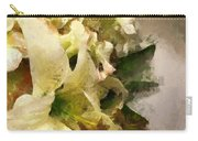 Christmas White Flowers Carry-all Pouch