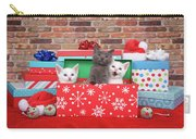Christmas With Kittens Carry-all Pouch