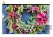 Christmas Wreath Watercolor Carry-all Pouch