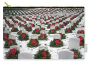 Christmas Wreaths Adorn Headstones Carry-all Pouch