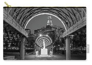 Christopher Columbus Park Boston Ma Trellis Statue Black And White Carry-all Pouch