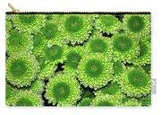 Chrysanthemum Green Button Pompon Kermit Carry-all Pouch