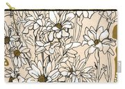 Chrysanthemum, Ink Sketch Carry-all Pouch