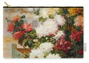 Chrysanthemums In A Walled Garden Carry-all Pouch