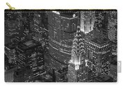 Chrysler Building Aerial View Bw Carry-all Pouch