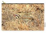 Chuckar Bird Hiding In Grass Carry-all Pouch