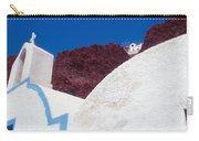 Church And Windmill In Santorini Greece Carry-all Pouch