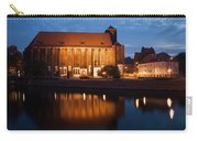 Church Of Our Lady On Sand In Wroclaw By Night Carry-all Pouch