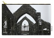 Church Of St Thomas A Becket In Heptonstall In Falling Snow Carry-all Pouch