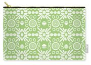 Cilantro- Green And White Art By Linda Woods Carry-all Pouch