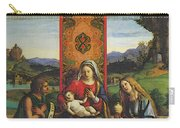Cima Da Conegliano The Madonna And Child With St John The Baptist And Mary Magdalen Carry-all Pouch