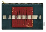 Cinnabar And Indigo One Of Two Carry-all Pouch