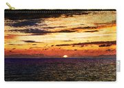 Cinque Terre - Sunset From Manarola - Panorama - Vintage Version Carry-all Pouch