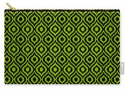 Circle And Oval Ikat In Black N09-p0100 Carry-all Pouch