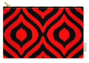 Circle And Oval Ikat In Black T02-p0100 Carry-all Pouch