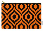 Circle And Oval Ikat In Black T03-p0100 Carry-all Pouch