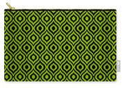 Circle And Oval Ikat In Black T09-p0100 Carry-all Pouch