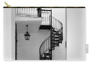 Circular Staircase In Black And White Carry-all Pouch