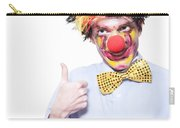 Circus Clown With Thumb Up To Carnival Advertising Carry-all Pouch by Jorgo Photography - Wall Art Gallery
