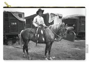 Circus Cowboy On Horse Carry-all Pouch