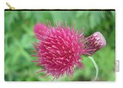 Cirsium Burgandy Thistle Carry-all Pouch