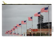 Citifield And American Flags Carry-all Pouch