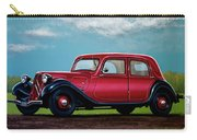 Citroen Traction Avant 1934 Painting Carry-all Pouch