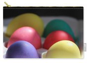 Citrus And Ultra Violet Easter Eggs Carry-all Pouch