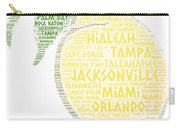 Citrus Fruit Illustrated With Cities Of Florida State Carry-all Pouch