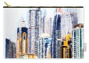 City Abstract Carry-all Pouch by Chris Armytage