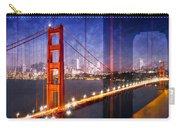 City Art Golden Gate Bridge Composing Carry-all Pouch by Melanie Viola