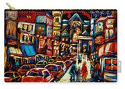 City At Night Downtown Montreal Carry-all Pouch