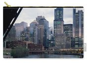 City At The Waterfront, Chicago River Carry-all Pouch
