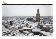 City Centre Of Utrecht With The Dom Tower In Winter Carry-all Pouch