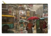 City - Ny - Times Square On A Rainy Day 1943 Carry-all Pouch