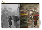 City - Ny - Times Square On A Rainy Day 1943 Side By Side Carry-all Pouch