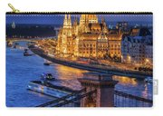 City Of Budapest At Twilight Carry-all Pouch