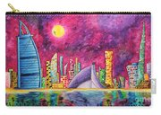 City Of Dubai Pop Art Original Luxe Life Painting By Madart Carry-all Pouch