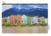 City Of Innsbruck Colorful Inn River Waterfront Panorama Carry-all Pouch